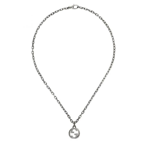 Gucci Silver Interlocking GG Pendant YBB45530700100U
