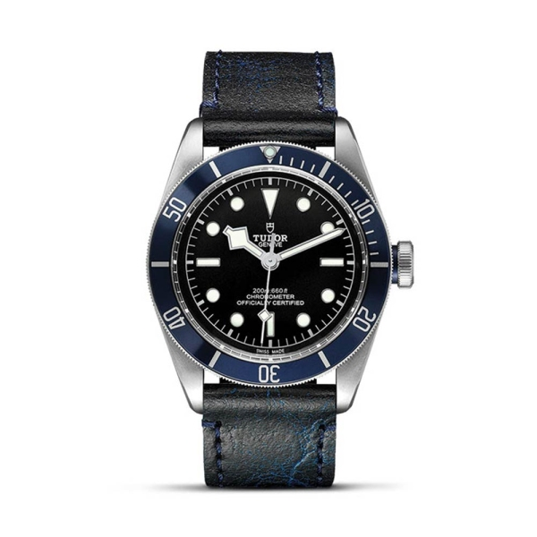 TUDOR Black Bay 41mm Blue Bezel Blue Leather Strap M79230B-0007