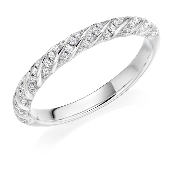 Platinum Twisted Diamond Eternity Band .22ct
