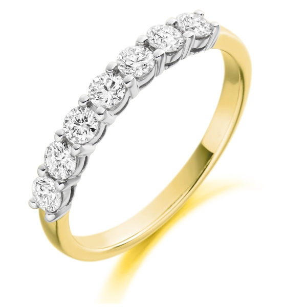 18ct Yellow & White Gold Brilliant Cut Diamond Eternity Ring 0.50ct