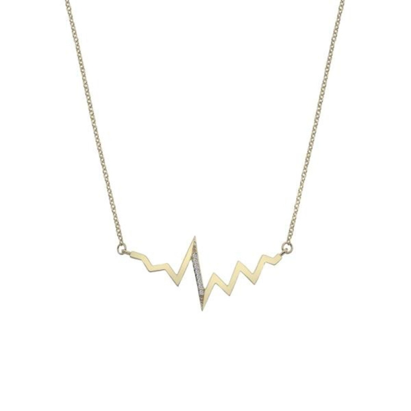 Hot Diamond Beat 9ct Yellow Gold Necklace GN021
