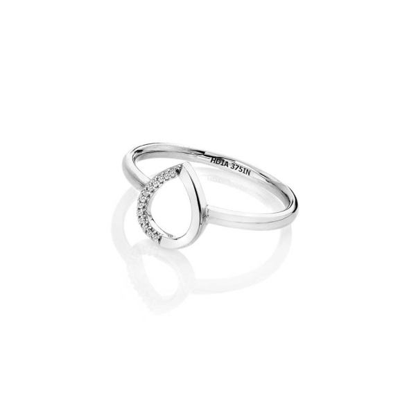 Hot Diamonds 9ct White Gold Diamond Teardrop Ring GR060