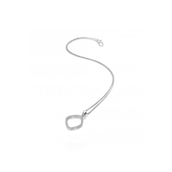 "Hot Diamonds Behold White Topaz Necklace 16"" DP830"