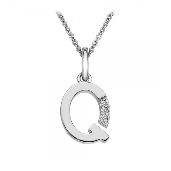 Hot Diamonds Micro 'Q' Sterling Silver Necklace DP417