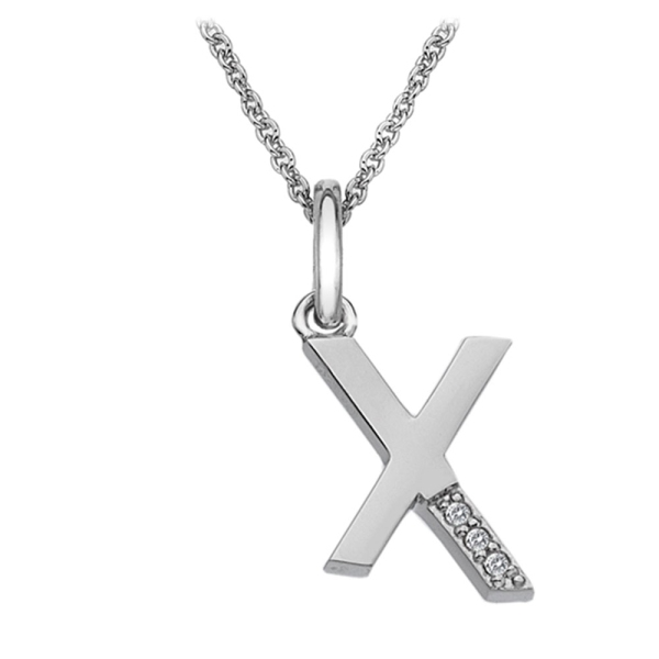 Hot Diamonds Micro 'X' Sterling Silver Necklace DP424
