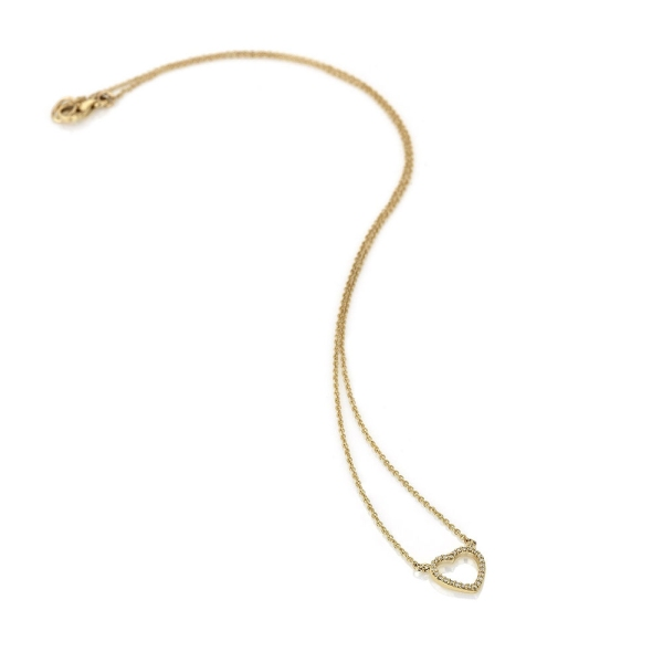 Hot Diamonds Ripple 9ct Yellow Gold Necklace GN023