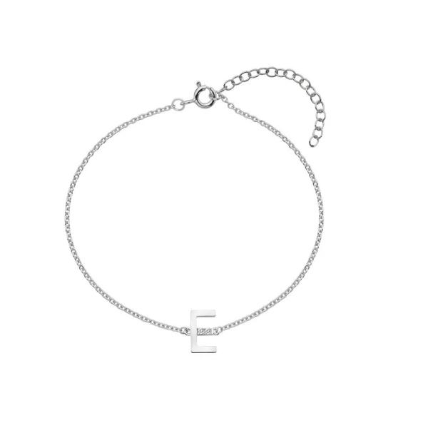 Hot Diamonds Silver Initial E Bracelet DL616