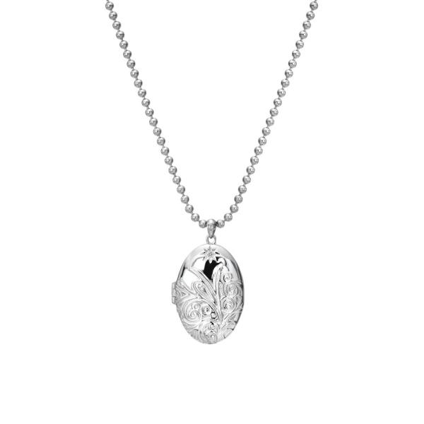 Hot Diamonds Silver Memories Engraved Oval Locket DP773
