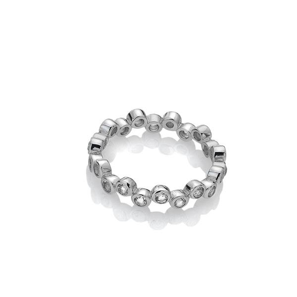 Hot Diamonds Silver Tender White Topaz Ring - DR208