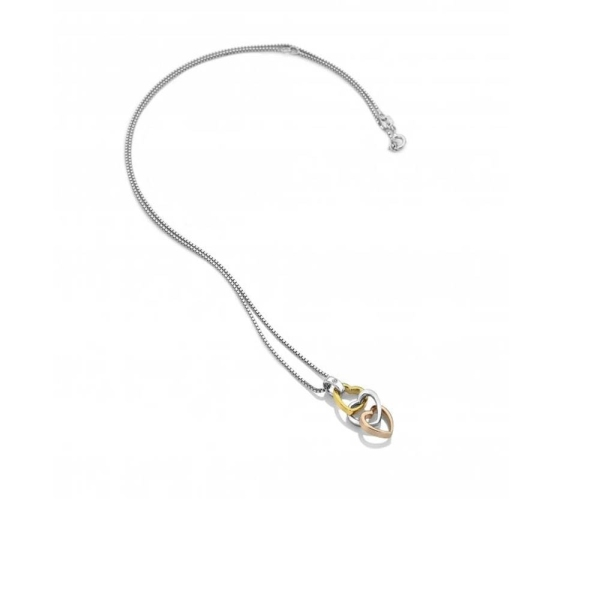 Hot Diamonds Trio Triple Heart Necklace DP836