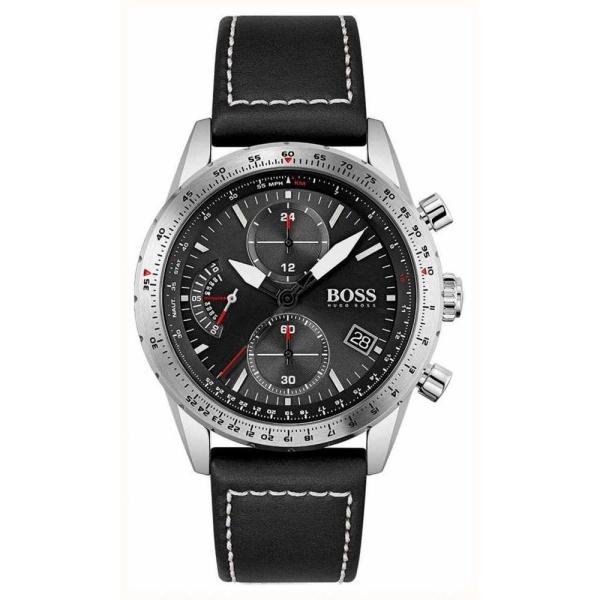Hugo Boss Pilot Edition Grey Chronograph Strap Watch 1513853