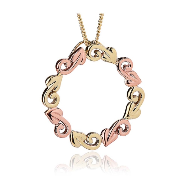 Clogau 9ct Yellow & Rose Gold Tree of Life® Circle Pendant - TOLCP2