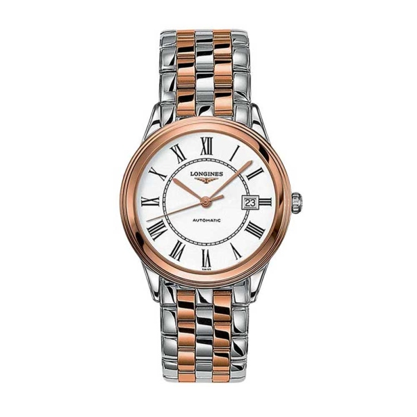 Longines Flagship Mens Rose & Steel Watch L4.874.3.91.7