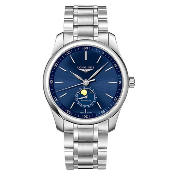 Longines Master Collection Moonphase Blue Dial Steel Mens Watch L2.909.4.92.6