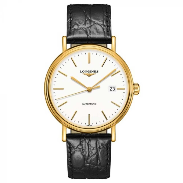 Longines Prescence Yellow Gold Plate Watch L4.922.2.12.2