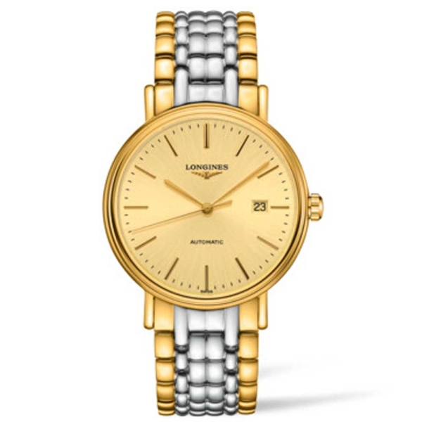 longines-presence-steel-and-yellow-automatic-champagne-baton-bracelet-watch-l4-922-2-32-7