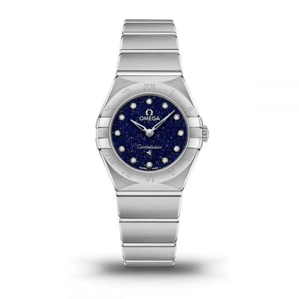 Omega Constellation Manhattan Quartz Blue Diamond Watch 13110256053001