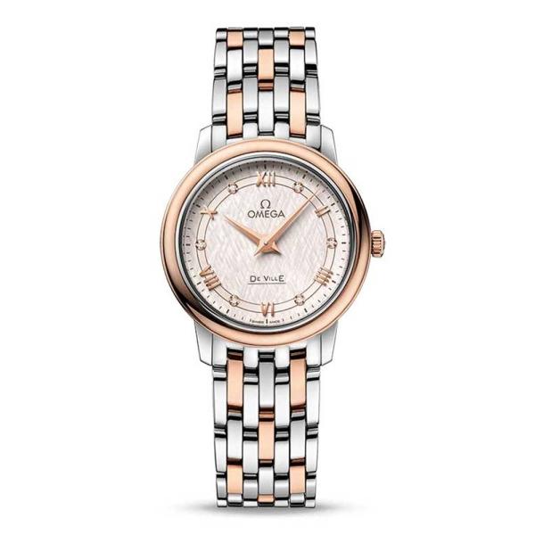 omega-de-ville-prestige-steel-and-rose-silver-dial-42420276052003