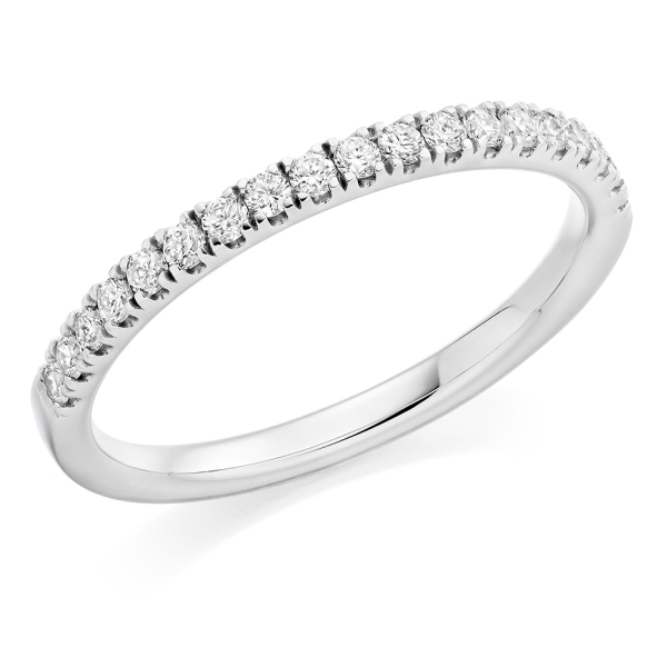 Platinum Brilliant Cut Micro Claw Set Ring .25cts