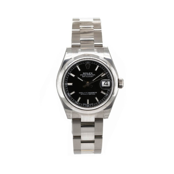 Pre Owned Rolex Datejust 31mm with Black Baton Dial  M178240