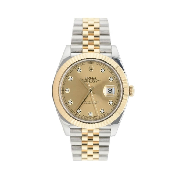 Pre owned Rolex Datejust 41 Champagne Diamond Dial M126333-0012