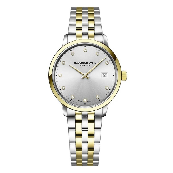 Raymond Weil Toccata 29mm Silver Diamond Bracelet Watch 5985-STP-65081