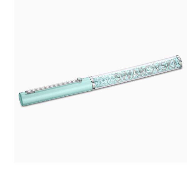 Swarovski Chrome and Green Crystalline Gloss Ballpoint Pen 5568762
