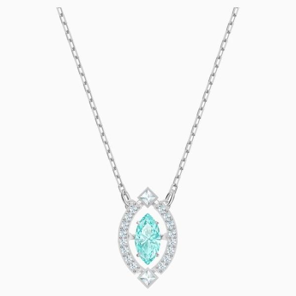Swarovski Clear Aqua Sparkling Dance Necklace 5485721