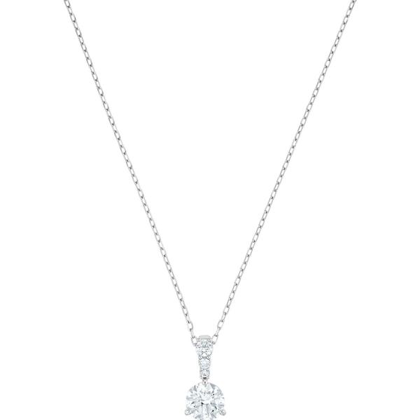 Swarovski Rhodium Solitaire Crystal Pendant 7mm 5472635