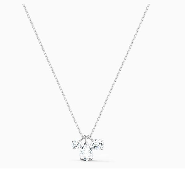 Swarovski Rhodium White Attract Cluster Pendant 5571077
