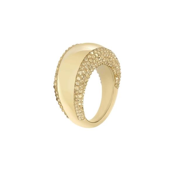 Swarovski Yellow Gold Tone Pebble Ring 5098350