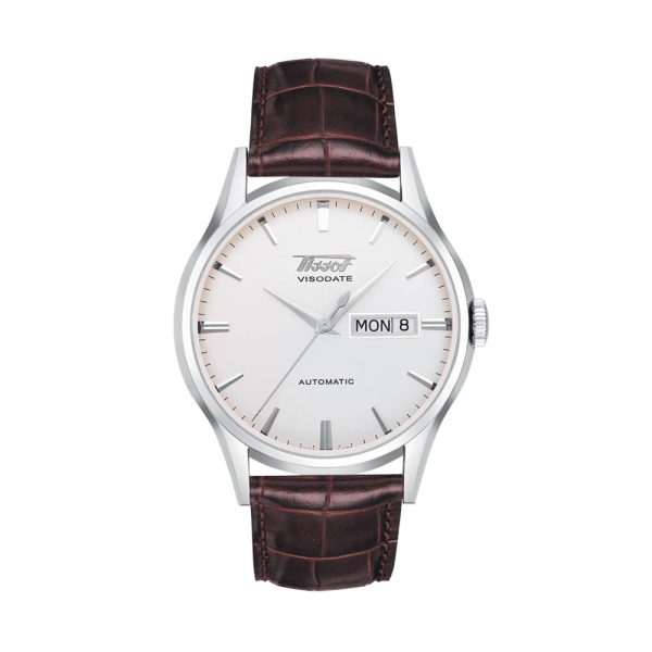 Tissot Heritage Visodate Automatic Silver Dial Strap Watch T0194301603101