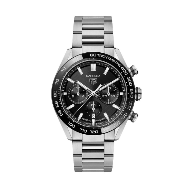 TAG Heuer Carrera Automatic Chronograph 44mm Black and Steel