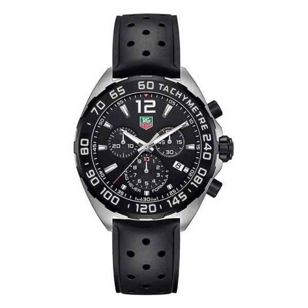 TAG Heuer Formula 1 Black Dial Rubber Strap CAZ1010.FT8024