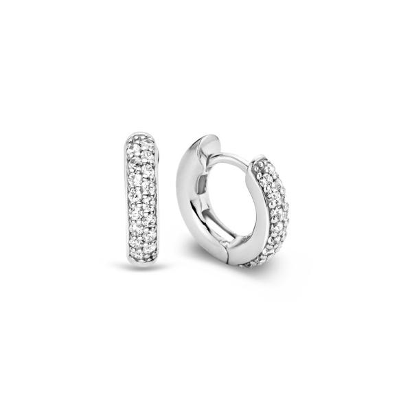 Ti Sento Crystal Pave Small Hoop Earrings 7210ZI