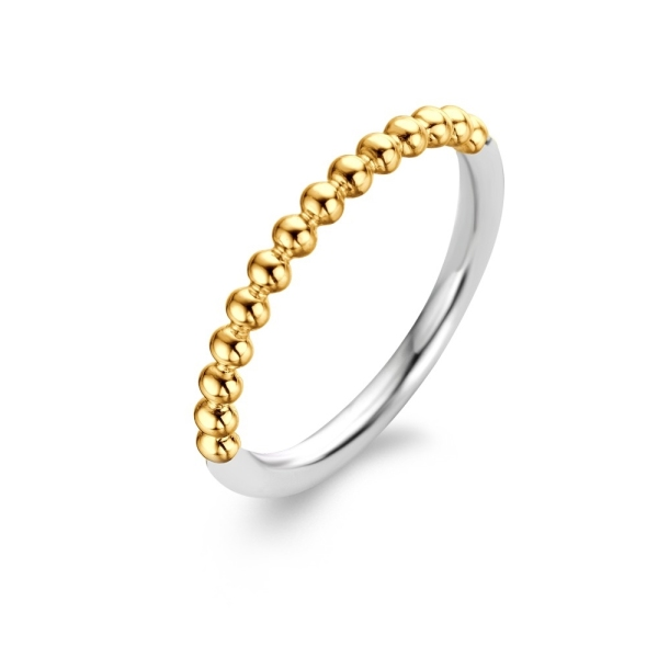 Ti Sento Silver and Yellow Plated Bubble Ring 1937SY