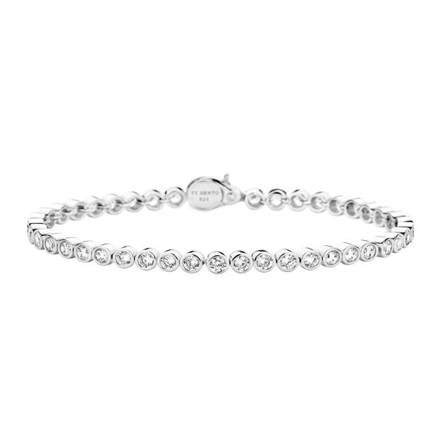 Ti Sento Silver Clear CZ Rub Bracelet 2842ZI