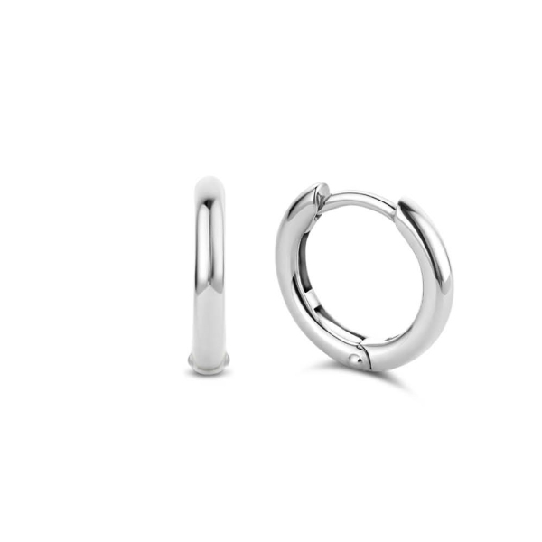 Ti Sento Silver Small Polished Hoop Earrings 7812SI