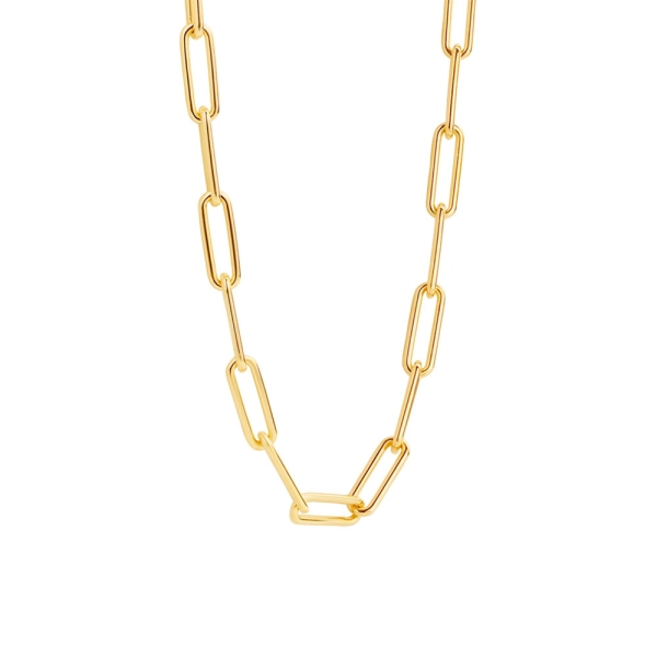 Ti Sento Silver/Yellow Gold Open Oval Link Necklace 3937SY/45
