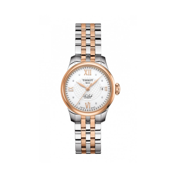 Tissot Le Locle Steel and Rose White Diamond Dial Watch T41.2.183.16