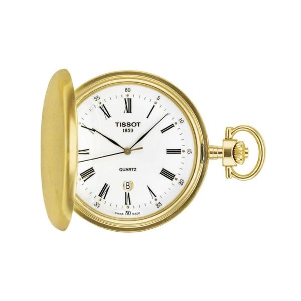 Tissot Savonette White Roman Dial Pocket Watch T83455313