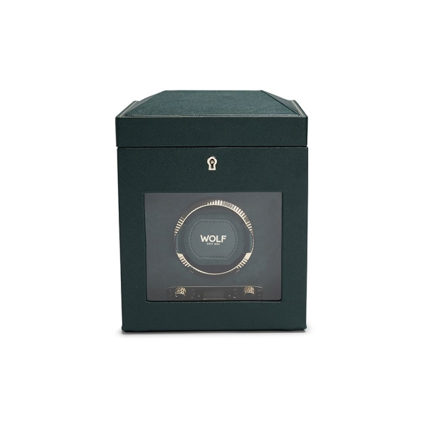 Wolf Racing Green Watch Winder with Storage 792141
