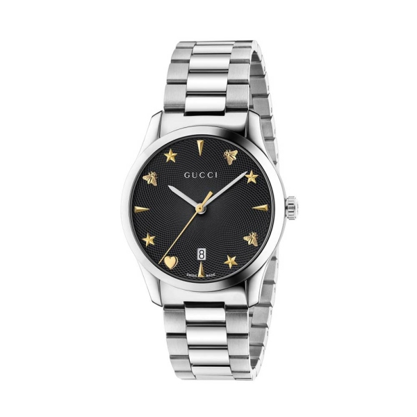 Gucci Timeless Black Guilloche Dial YA1264029A