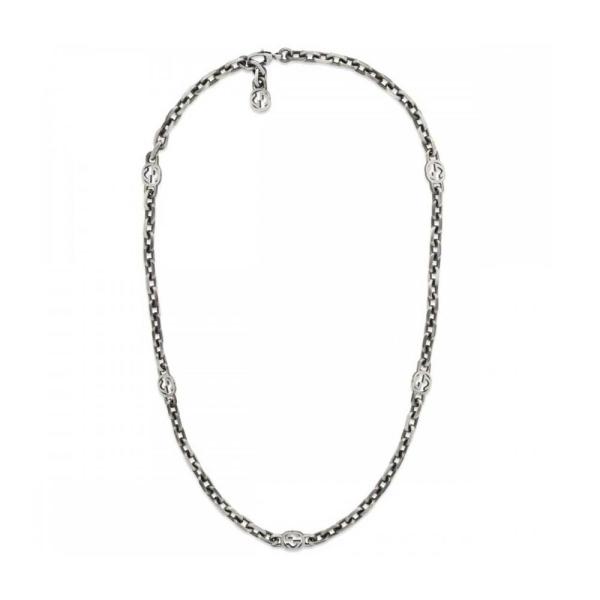 Gucci Silver Interlocking G 60cm Necklace YBB61694100100U