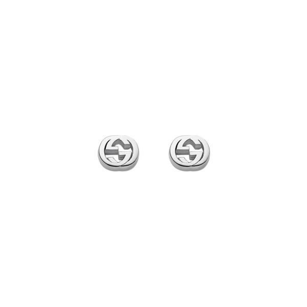 Gucci Silver Interlocking GG Studs YBD35628900100U