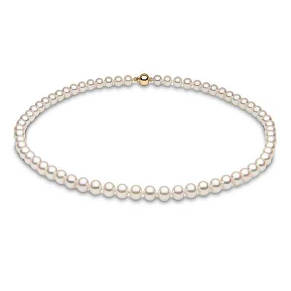 """Yoko 18ct Cultured Pearl 7-7.5mm Necklace 18"""""""