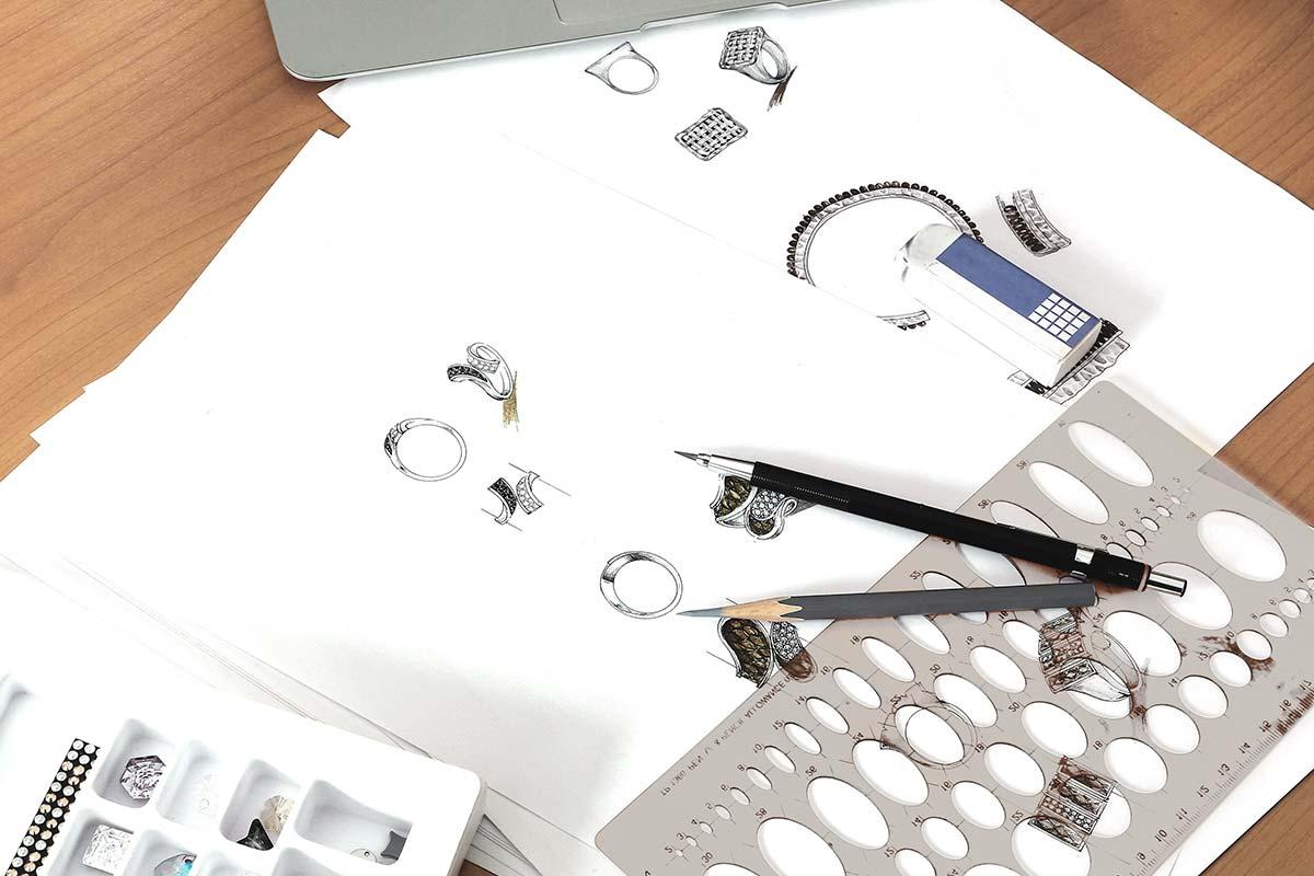 Bespoke Jewellery Design Sketches