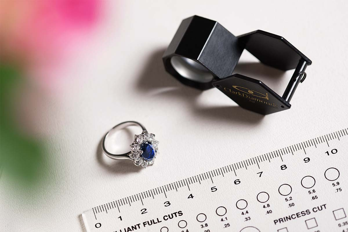 Sapphire Ring, Stone Chart and Eye Piece
